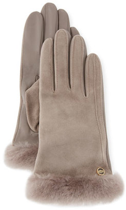 UGG Classic Suede Smart Gloves, Gray $110 thestylecure.com