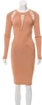Ronny Kobo Lace-Up Sweater Dress