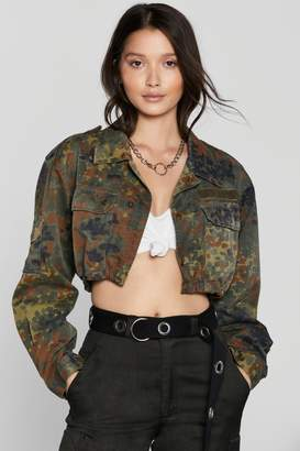 Nasty Gal After Party Vintage On Duty Camo Jacket