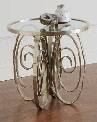 Global Views Delicate Scroll Side Table