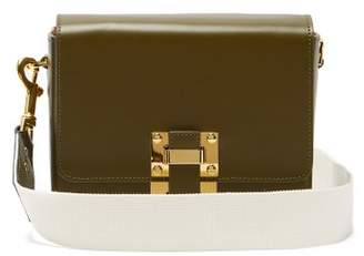 Sophie Hulme Quick Small Leather Cross Body Bag - Womens - Khaki Multi