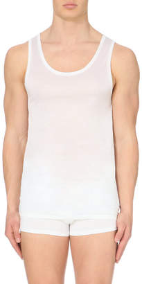 Derek Rose Lewis mercerised-cotton vest