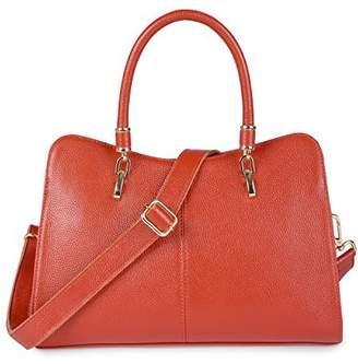 Yafeige Women Ladies Genuine Leather Tote Bag Handbag Shoulder Bag Top-handle Purse