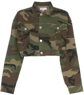 RE/DONE cropped camouflage cotton-blend jacket