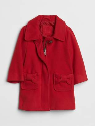 Gap Red Bow Peacoat