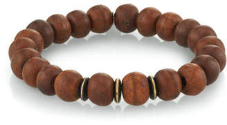 Mr. Lowe Men's Wood Bead Bracelet w/ Spacers, Size M