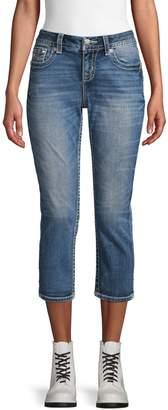 Miss Me Cross-Embellished Easy Crop Jeans