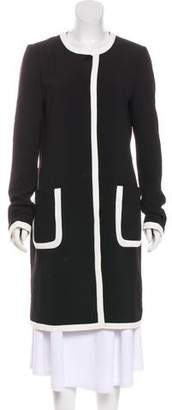 Karl Lagerfeld Knee-Length Button-Up Coat w/ Tags