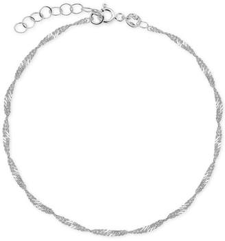 Giani Bernini Singapore Link Ankle Bracelet in Sterling Silver
