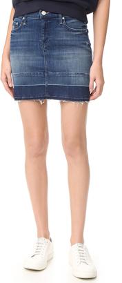 MOTHER Undone Hem Mini Skirt $198 thestylecure.com