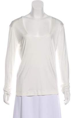 Hermes Scoop Neck Jersey Top w/ Tags