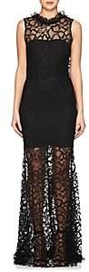 Sophia Kah Women's Lace Backless Mermaid Gown - Black