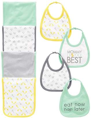 Carter's Simple Joys by Baby 8-Pack Burp Cloth and Bib Set