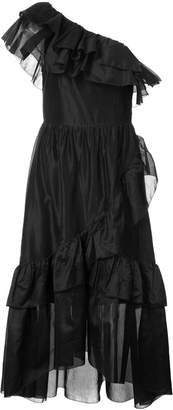 Ulla Johnson ruffle trim asymmetric dress