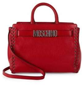 Moschino Timeless Leather Satchel