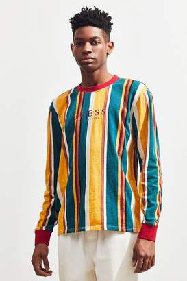 GUESS Sayer Stripe Long Sleeve Tee
