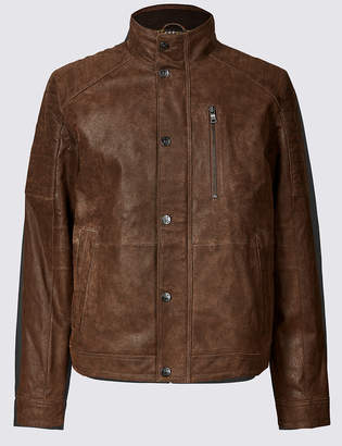 M&S CollectionMarks and Spencer Leather Biker Jacket