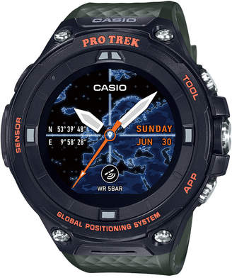 G-Shock Men Digital Pro Trek Green Resin Strap Smart Watch 61.7mm