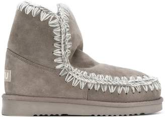 Mou whipstitched boots