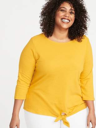 b3845338f1596 Old Navy Relaxed Plus-Size Tie-Front Mariner Top