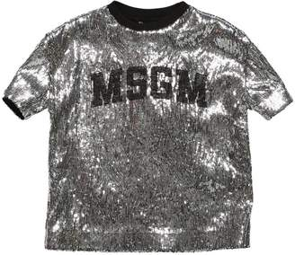 MSGM Sequined Jersey T-shirt