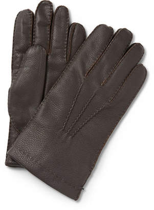 Paul Smith Cashmere-Lined Leather Gloves - Men - Brown