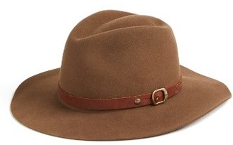 Women's Frye Campus Wool Fedora - Brown $198 thestylecure.com