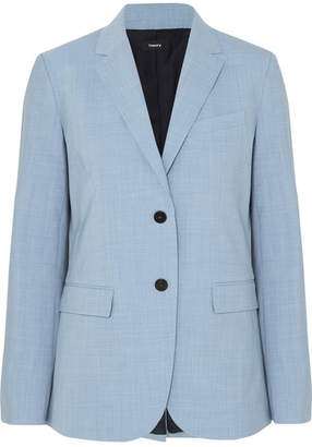 Theory Classic Stretch-wool Blazer - Light blue