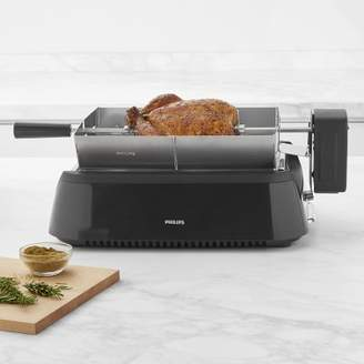 Philips Smoke-Less Infrared Grill with BBQ & Steel-Wire Grids with Rotisserie