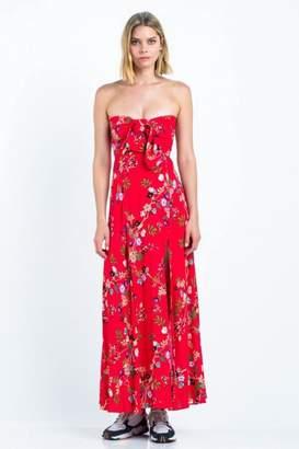 Skylar Madison Strapless Floral Maxi