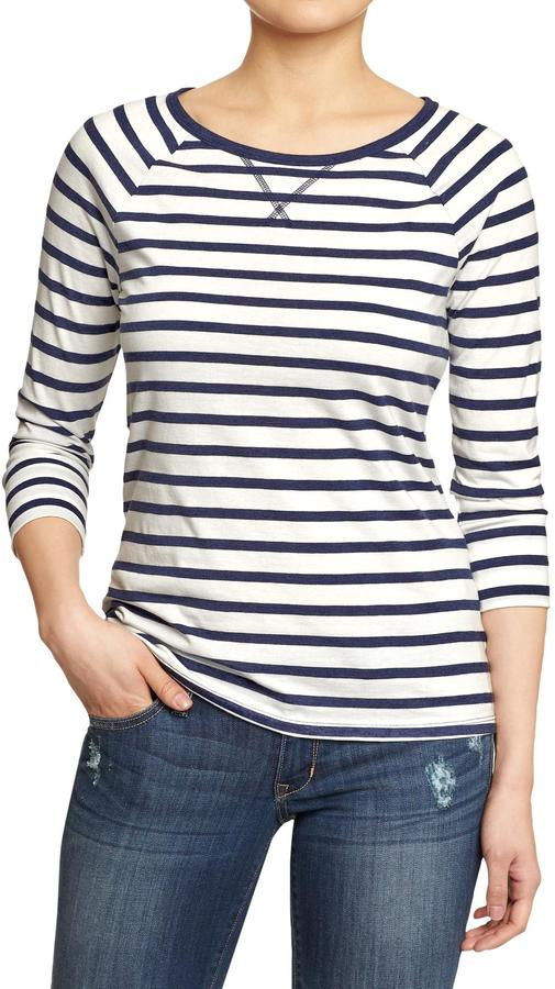 Old Navy Women's Striped 3/4-Sleeve Tees