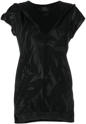 Lost & Found Ria Dunn hooded slashed T-shirt