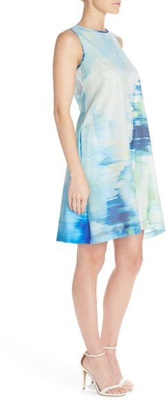 Women's Julia Jordan Print Woven Swing Dress 4