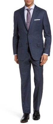 Men's Hickey Freeman B-Series Classic Fit Plaid Wool Suit $1,595 thestylecure.com