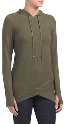 Active Textured Cross Front Sweater
