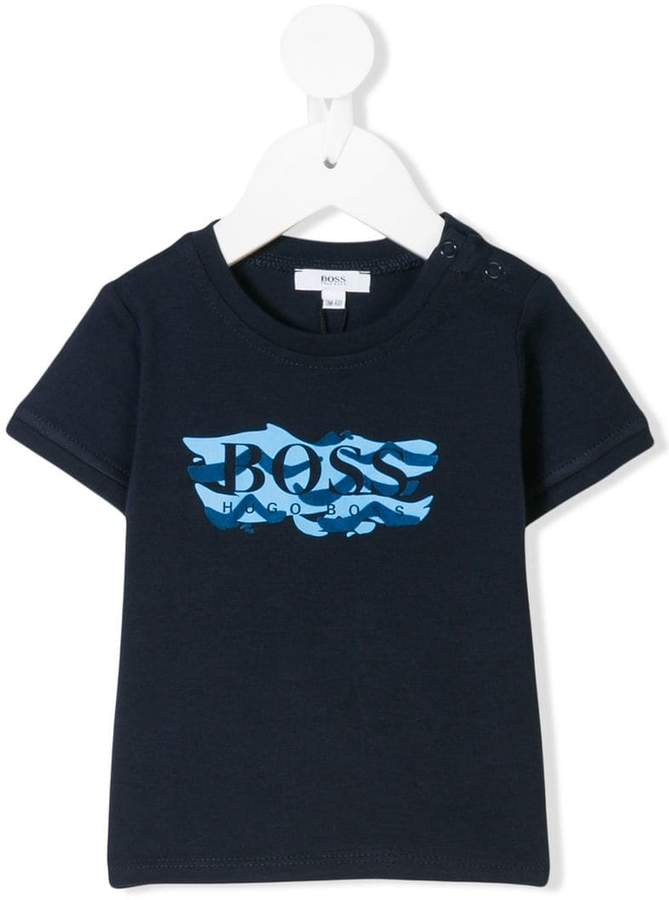 Boss Kids T-Shirt mit Logo-Print