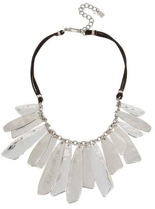 Robert Lee Morris Shaky Layered Bib Leather Necklace