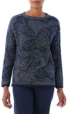 Olsen Jacquard Butterfly Sweater