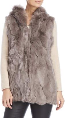 Dolce Cabo Hooded Real Fur Vest