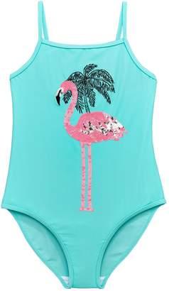 Very Girls Flamingo Swimsuit - Blue