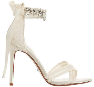 Dune Bridal Collection Memories Lace Stiletto Sandals, Ivory