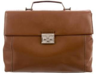 Salvatore Ferragamo Large Leather Briefcase