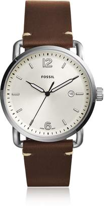 Fossil The Commuter Three-Hand Date Brown Leather Men's Watch