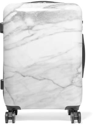 CalPak Astyll Carry-on Marbled Hardshell Suitcase - White