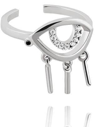 Astrid & Miyu - The Evil Eye Ring In Silver