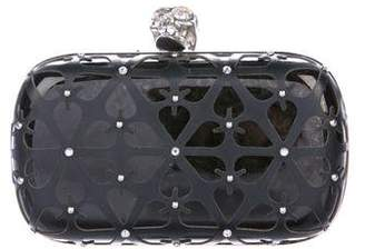 Alexander McQueen Crystal-Embellished Skull Box Clutch