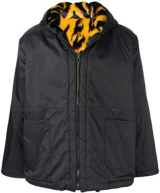 Aries reversible hooded jacket