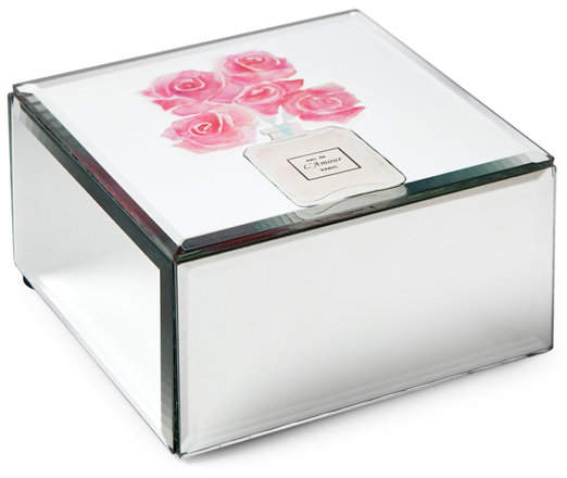 philip whitney Pink Rose Mirror Jewelry Box