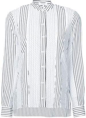 Derek Lam 10 Crosby Long Sleeve Mixed Print Blouse