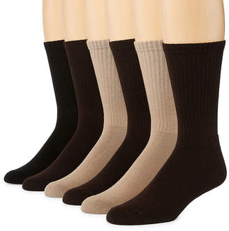 Hanes Men's 6-pk. ComfortBlend FreshIQ Crew Socks - Extended Sizes